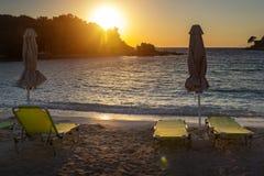 Красивый пляж на праздник в Албании Ionian море стоковое фото