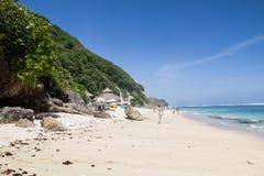 Красивый пляж на южной стороне острова Бали Стоковое Изображение RF