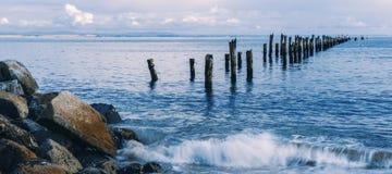 Красивый пляж на Bridport, Тасмании, Австралии Стоковое Изображение