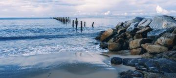 Красивый пляж на Bridport, Тасмании, Австралии Стоковое фото RF