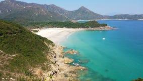 Красивый пляж, пляж олова ветчины, Гонконг стоковая фотография rf