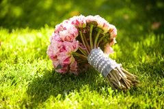 Красивый покрашенный wedding букет Стоковая Фотография