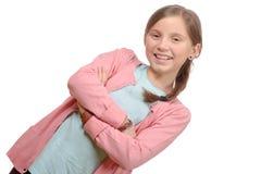 Красивый портрет девушки с оплеткой Стоковое Фото
