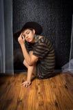Красивый портрет женщины коренного американца Стоковые Фото