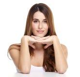Красивый портрет женщины. стоковое изображение rf