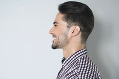 Красивый портрет профиля молодого человека Стоковые Фото