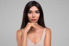 Красивый портрет студии женщины Стоковые Изображения RF