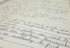 Красивый почерк Стоковая Фотография RF