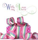 Красивый подарок цвета конфеты с текстом образца Стоковое Изображение