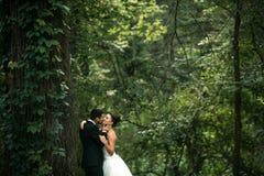 Красивый представлять пар свадьбы стоковое изображение rf