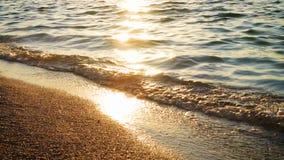 Красивый прибой моря акции видеоматериалы
