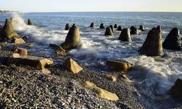 Красивый прибой моря Стоковое Изображение RF