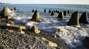 Красивый прибой моря Стоковые Фотографии RF