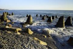 Красивый прибой моря Стоковое Изображение