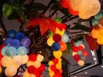 Красивый производя букет красочного светлого шарика был повешен на t Стоковое фото RF