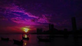 Красивый промежуток времени около пляжа на Tanjung Bungah Penang Малайзии акции видеоматериалы