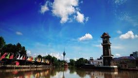 Красивый промежуток времени около реки в Kedah Малайзии сток-видео