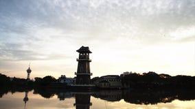 Красивый промежуток времени около реки в Kedah Малайзии акции видеоматериалы