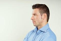 красивый профиль человека Стоковые Изображения RF