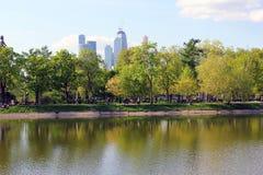 Красивый пруд в парке Стоковая Фотография RF