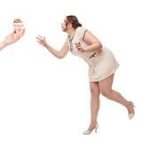 Красивый плюс желание женщины размера для торта Стоковое фото RF