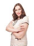 Красивый плюс портрет женщины размера Стоковое Фото