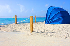 Красивый пляж Багамских островов тропический Стоковая Фотография RF