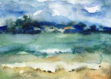 Красивый пляж Байкал Стоковое Изображение RF