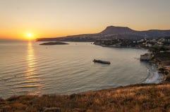 Красивый пляж восхода солнца моря стоковая фотография rf