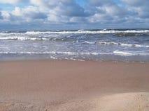 Красивый пляж в городке Palanga ` s Литвы Стоковое Изображение
