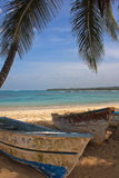 Красивый пляж в Доминиканской Республике Стоковое Изображение