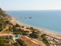 Красивый пляж в лефкас Kathisma Стоковые Изображения RF