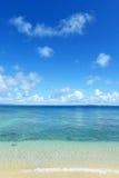 Красивый пляж в Окинаве Стоковое Фото