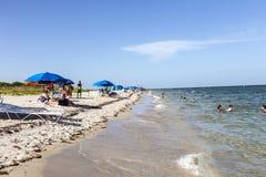 Красивый пляж в парке Crandon стоковое изображение