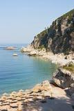 Красивый пляж в Черногории Стоковое Изображение