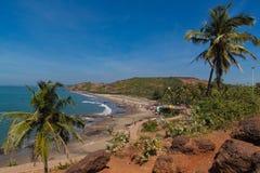 Красивый пляж в Vagator Стоковое Фото
