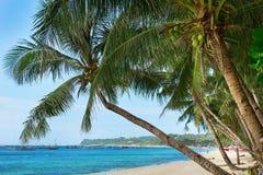 Красивый пляж на острове Boracay Стоковое Изображение