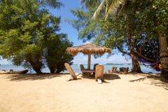 Красивый пляж на юге  острова karimunjawa Стоковые Фотографии RF