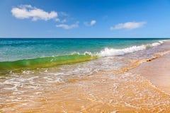 Красивый пляж океана Стоковые Изображения RF