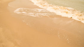 Красивый пляж песка Стоковое Изображение RF