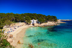 Красивый пляж Cala Gat Стоковые Изображения RF