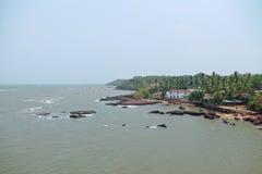 Красивый пляж Dona Пола, Goa Стоковые Изображения RF