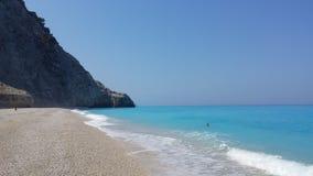 Красивый пляж Egremni, Греция Стоковые Изображения