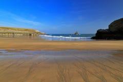 Красивый расколотый песок пляжа гавани Broard южного Стоковые Фото