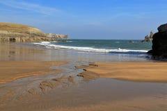 Красивый расколотый песок пляжа гавани Broard южного Стоковые Фотографии RF