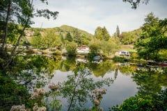 Красивый располагаясь лагерем курорт стоковое изображение