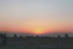 Красивый рассвет в долине Стоковые Изображения RF
