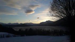 Красивый рассвет зимы Стоковое фото RF