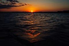Красивый рассвет на банке Стоковое Фото