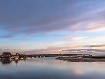 Красивый рассвет на восточном флоте Wells Норфолке Стоковая Фотография